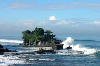Tanah Lot Temple in the Indian Ocean