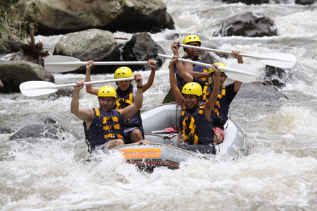 Rafting on the Ayung River