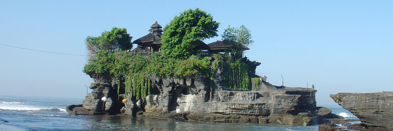Tanah Lot sea temple in the morning
